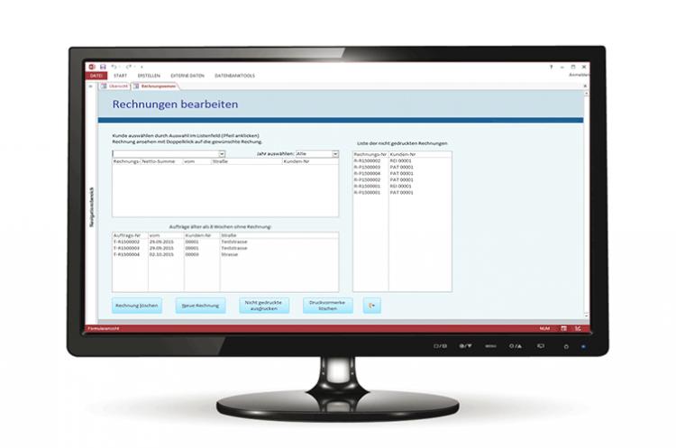 Access Datenbank Formular zur Verwaltung von Rechnungen