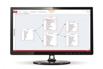 Access Datenbank Ansicht mit dem Datenbanktool Beziehungen